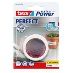 Tesa extra power perfect textieltape wit - 2,75 m x 19 mm