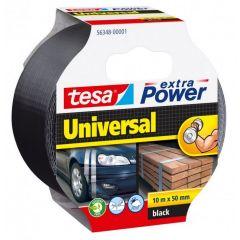 Tesa extra power universal tape zwart - 10 m x 50 mm